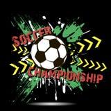 Tło piłki nożnej abstrakcjonistyczna piłka od kleksów Zdjęcie Royalty Free