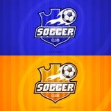 Tło piłki nożnej klubu emblemat Fotografia Royalty Free