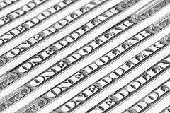 Tło pieniądze, w jeden USA dolarów banknotach zdjęcie royalty free