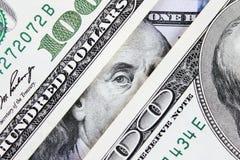 Tło pieniądze (zakończenie up dolarowy rachunek) Zdjęcie Stock