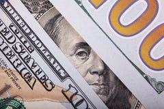 Tło pieniądze (zakończenie up dolarowy rachunek) Zdjęcia Royalty Free
