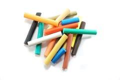 tło pisać kredą kolorowego pastelowego biel Zdjęcie Royalty Free