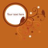 tło pomarańcze ptasia kwiecista Obraz Royalty Free