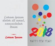 Tło projekt, Plakatowy projekt, kartka z pozdrowieniami projekt dla Szczęśliwego nowego roku 2018 Zdjęcie Stock