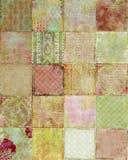 tło projektuje patchworku kwiecistego rocznika royalty ilustracja