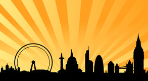 tło promienieje London linię horyzontu Zdjęcie Royalty Free