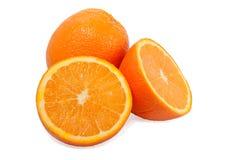 tło przekrawa pomarańcze jeden biel dwa Obrazy Royalty Free