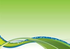 tło przepływu zieleń Obrazy Royalty Free