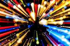 Tło przypomina ruchu zamazanego neonowego światło Zdjęcie Royalty Free