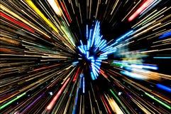 Tło przypomina ruchu zamazanego neonowego światło Zdjęcia Royalty Free