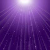 Tło purpurowi świecący promienie ilustracji