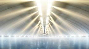 Tło Pustej zimy lodowy lodowisko w światło reflektorów sport zdjęcia royalty free