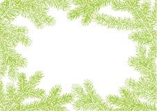 Tło robić jedlinowe gałąź Od dla Choinki gałąź wektor rama dekoruje Zielona bujny gałąź świerczyna z ilustracja wektor