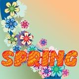 Tło robić up kwiaty i rośliny kwitnie ziele ilustracja wektor