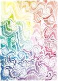 tło rysująca kwiecista ręki tęcza Zdjęcia Royalty Free