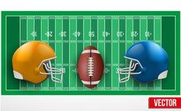 Tło rywalizacja w futbol amerykański drużynach ilustracja wektor