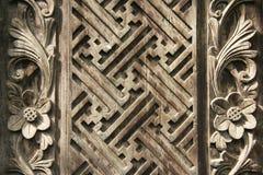 tło rzeźby balinese projektu drewna Obraz Royalty Free