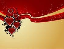 tło serca royalty ilustracja