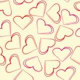 Tło serca rysujący w notatniku Obrazy Stock