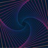 Tło spirala barwił na zmroku - błękitny tło royalty ilustracja