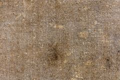 Tło stara brudna tkanina len w czerń dymu obrazy stock