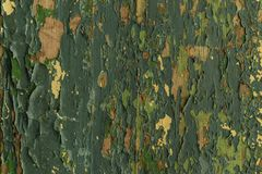 Tło stara deska z obieranie farby zielenią, tekstura Zdjęcia Stock