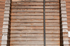 Tło stara sosnowa drewniana ściana Zdjęcia Stock