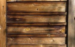 Tło stare drewniane deski z gwoździami zdjęcie stock