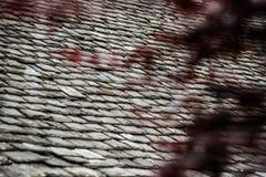 Tło stare kamienne dachowe płytki Fotografia Royalty Free