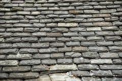 Tło stare kamienne dachowe płytki Zdjęcie Stock