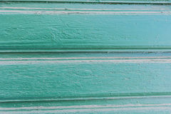 Tło stare malować zielone horizonta deski Fotografia Stock