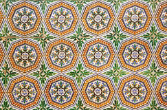 Tło stare płytki w Sevilla, Hiszpania Fotografia Stock