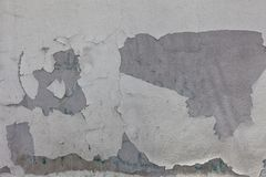 Tło starego rocznika brudny ściana z cegieł z obieranie tynkiem fotografia royalty free