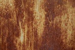 Tło stary metali Zrudziała farba Obraz Stock