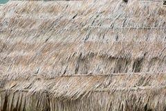Tło stary pokrywający strzechą dach Obrazy Stock