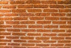Tło stary rocznik czerwieni ściana z cegieł Fotografia Stock