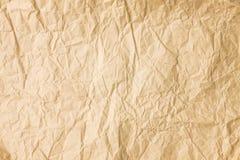 Tło stary zmięty barwiony pergaminowy papier Obraz Stock