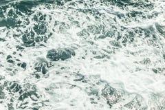 Tło strzał aqua wody morskiej powierzchnia Obraz Royalty Free