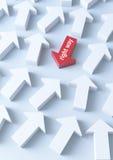 tło strzałkowaty biznes Zdjęcie Stock