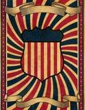 tło szablon stary plakatowy retro stylowy Obraz Royalty Free