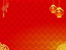 Tło Szczęśliwy Chiński dzień nowego roku z chińskim lampionem Obrazy Royalty Free