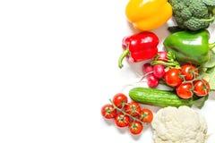 tło szczypiorków świeżego ogórkowy salat cebulkowy zastrzelił wiosen studio warzywa pomidora białych Fotografia Royalty Free