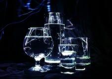 tło szkła ciemni fluorescencyjni Obraz Royalty Free
