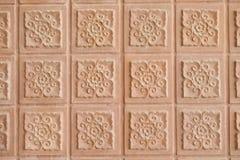 Tło Tajlandzki sztuki stylu ściana z cegieł Obraz Royalty Free