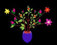 Tło, tapeta, kwiatu drzewo, kowadło, cranium kwiatu czerwień, kolor żółty, zielony projekt ilustracji