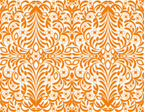 tło tapeta kwiecista pomarańczowa bezszwowa Zdjęcia Royalty Free