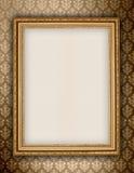 tło tapeta ramowa złota Obraz Stock