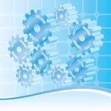tło target294_1_ machinalną technologię Obraz Royalty Free