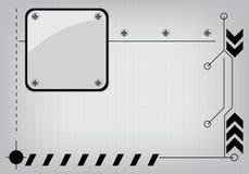 Tło technologii konstruować monotone Ilustracja Wektor