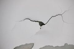 Tło tekstura biała grunge betonowa ściana z obieranie farbą Obraz Stock